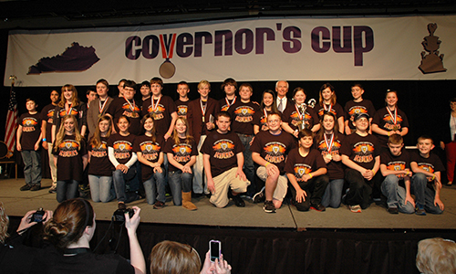 group of students at Governor's Cup